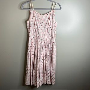 VINTAGE 60s Fit and Flare Sleeveless Spotted Dress